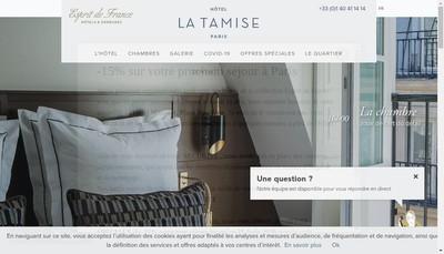 Site internet de Hotel de la Tamise