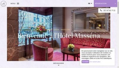 Site internet de Hotel Massena
