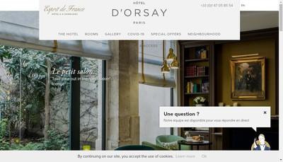 Site internet de Hotel d'Orsay