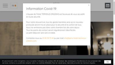 Site internet de Hotel Terminus Orleans
