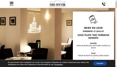 Site internet de Paris New-York