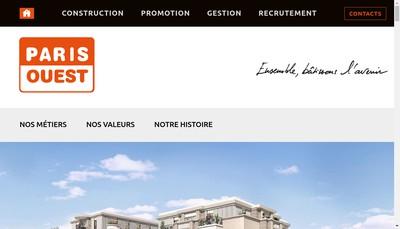 Site internet de Paris-Ouest Promotion