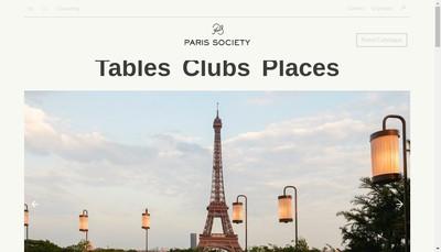 Site internet de Paris Society