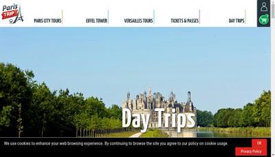 Site internet de Paris'Trip