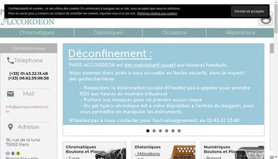 Site internet de Paris Accordeon