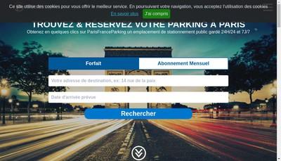 Site internet de Paris France Parking