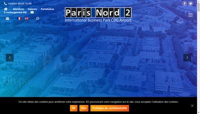 Site internet de Paris Nord 2 Gestion