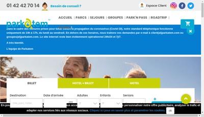Site internet de Parkatem