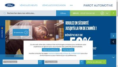 Site internet de Parot Automotive