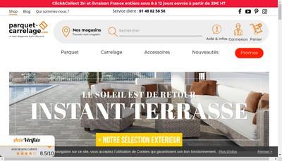 Site internet de Mode Parquet