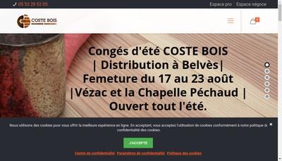 Site internet de Coste Bois & Parquets