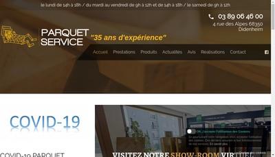 Site internet de Parquet Service