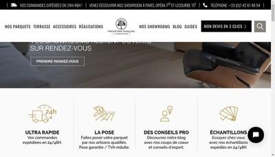 Site internet de Parqueterie Francaise