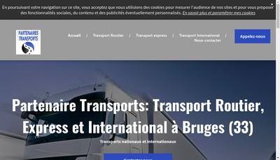 Site internet de Partenaires Transports
