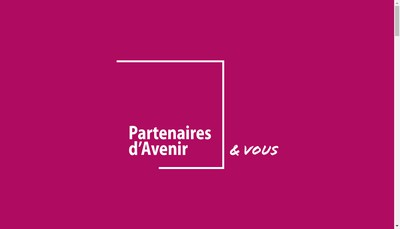 Site internet de Partenaires d'Avenir
