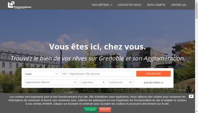 Site internet de Le Partenariat Immobilier
