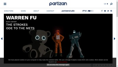 Site internet de Partizan Animation