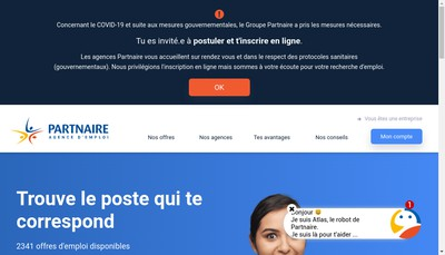 Site internet de Groupe Partnaire