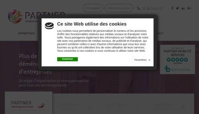Site internet de PARTNER Mobilité Services