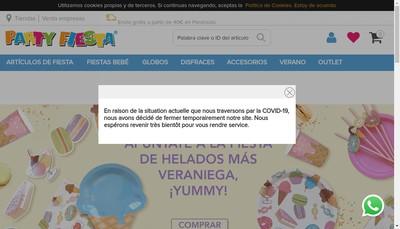 Site internet de Party Fiesta