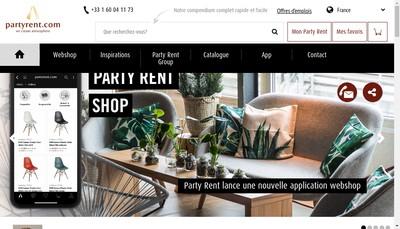 Site internet de Party Rent Paris