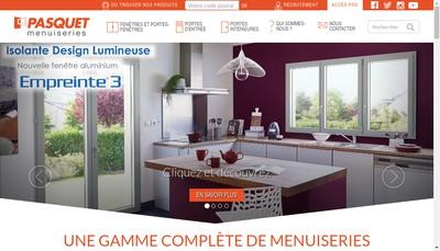 Site internet de Pasquet Menuiseries