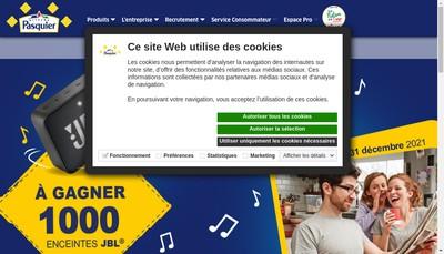 Site internet de Patisserie Pasquier Saint Valery