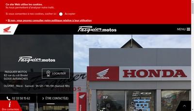 Site internet de SARL Pasquier Motos