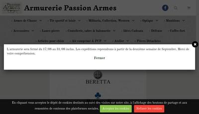 Site internet de Passion Armes