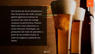 Site internet de Passion Malts