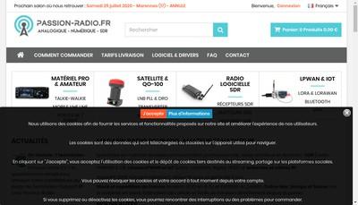 Site internet de Passion Radio Shop