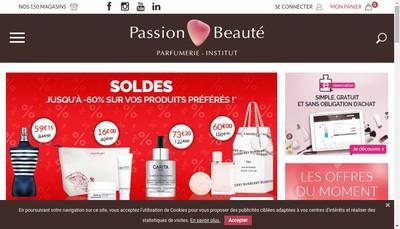 Site internet de Passion Beaute