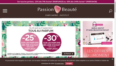 Site internet de Passion Beaute