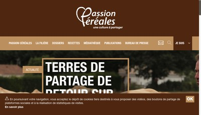 Site internet de Passion Cereales une Culture a Partager