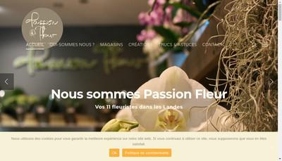 Site internet de Passion Fleur