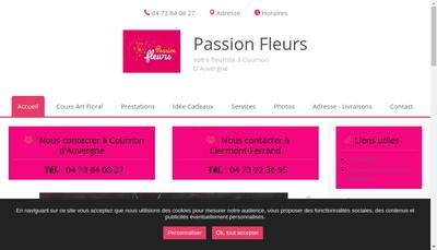 Site internet de Passion Fleurs