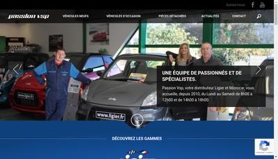 Site internet de Passion Vsp