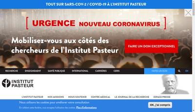 Site internet de Institut Pasteur