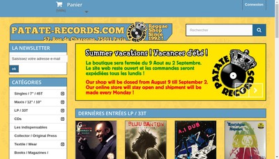Site internet de Patate Records Production
