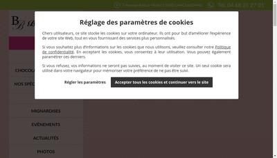 Site internet de Patisserie Timoreau