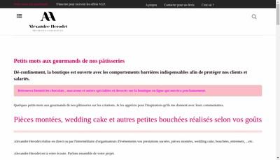 Site internet de Patisserie Alexandre Herodet