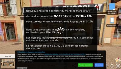 Site internet de Christophe Gaillardo Patissier Confiseur