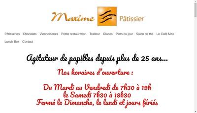 Site internet de Patisserie Maxime - Cafe Max