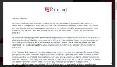 Site internet de Le Bureau du Cgp