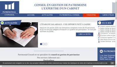 Site internet de Patrimonial Conseil