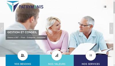 Site internet de Patrymonis Gestion & Conseil