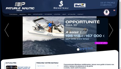 Site internet de Paturle Nautic