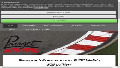 Site internet de Garage Pauget