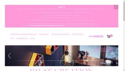 Site internet de Pause Creation