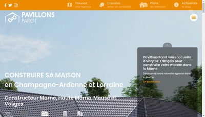 Site internet de Pavillons Parot